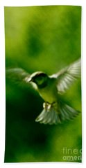 Feeling Free As A Bird Wall Art Print Hand Towel by Carol F Austin