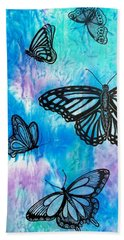Bath Towel featuring the painting Feeling Free by Susan DeLain