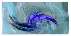 Feeling Tiffany Blue Hand Towel by Donna Blackhall