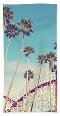 Feels Like Summer - Boardwalk Roller Coaster Photograph Bath Towel