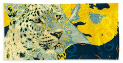 Bath Towel featuring the digital art Feline Looks by Zedi