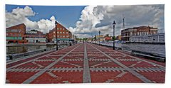 Bath Towel featuring the photograph Fells Point Pier by Suzanne Stout