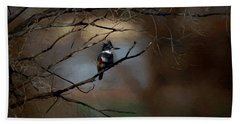 Female Belted Kingfisher 3 Hand Towel by Ernie Echols