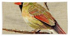 Female Cardinal Hand Towel