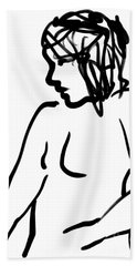 Female Nude Hand Towel