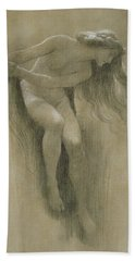 Female Nude Study  Bath Towel