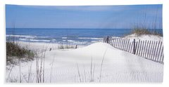 Fence On The Beach, Gulf Of Mexico, St Hand Towel