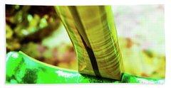 Custom Shop Stratocaster In Rare Green Sparkle Bath Towel
