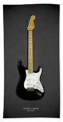 Fender Stratocaster Blackie 77 Bath Towel
