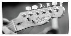 Fender Telecaster Monochrome - Detail Hand Towel