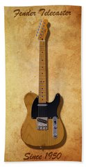 Fender Telecaster Since 1950 Bath Towel by WB Johnston