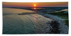 Fenway Beach Sunset Hand Towel