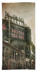 Fenway Park Billboard - Boston Red Sox Bath Towel by Joann Vitali