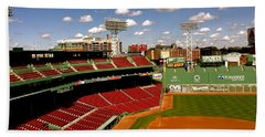 Hand Towel featuring the photograph Fenway Park Iv  Fenway Park  by Iconic Images Art Gallery David Pucciarelli