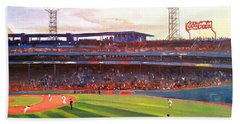 Hand Towel featuring the painting Fenway Park by Rose Wang