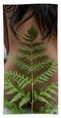 Fern And Woman Hand Towel