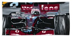Fernando Alonso Wins Monaco For Mclaren 2008 Hand Towel