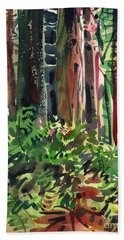 Ferns And Redwoods Bath Towel by Donald Maier