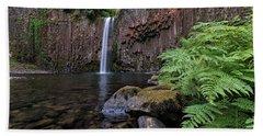 Ferns And Rocks By Abiqua Falls Bath Towel