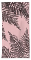 Ferns On Blush Bath Towel