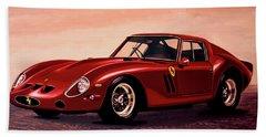 Ferrari 250 Gto 1962 Painting Hand Towel by Paul Meijering