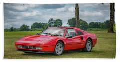 Bath Towel featuring the photograph Ferrari 328 Gts by Adrian Evans