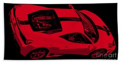 Ferrari 458 Bath Towel