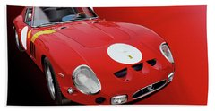 Ferrari Gto Illustration Bath Towel by Alain Jamar