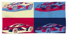 Ferrari Pop Art Panels Bath Towel