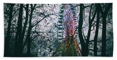Ferris Wheel Bath Towel by Ana Mireles
