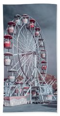 Ferris Wheel In Morning Hand Towel by Greg Nyquist