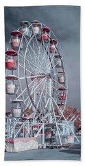 Ferris Wheel In Morning Bath Towel by Greg Nyquist