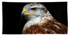 Ferruginous Hawk Portrait Bath Towel
