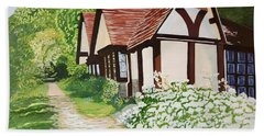 Ferry Cottage Hand Towel by Joanne Perkins