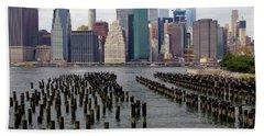 Ferry Hopping New York Hand Towel