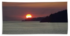 Ferry Sunset Hand Towel