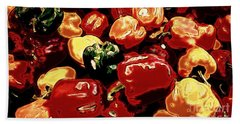 Festival Of Peppers Bath Towel