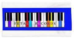 Fetal Records Logo Bath Towel
