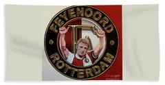 Feyenoord Rotterdam Painting Hand Towel by Paul Meijering