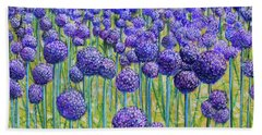 Field Of Allium Bath Towel
