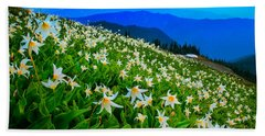 Field Of Avalanche Lilies Hand Towel