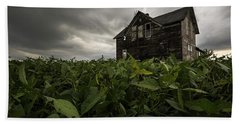 Hand Towel featuring the photograph Field Of Beans/dreams by Aaron J Groen