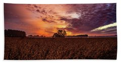 Field Of Beans Hand Towel by John Harding