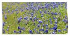 Field Of Blue Bonnet Flowers Hand Towel