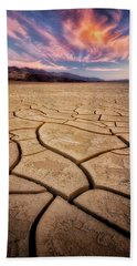 Field Of Cracks Bath Towel by Nicki Frates