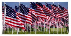 Field Of Flags For Heroes Bath Towel