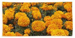 Field Of Orange Marigolds Hand Towel