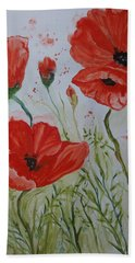 Field Of Poppies Bath Towel