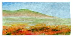 Hand Towel featuring the painting Field Of Poppies by Jamie Frier