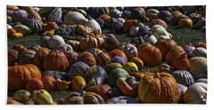 Field Of Pumpkins And Gourds Bath Towel